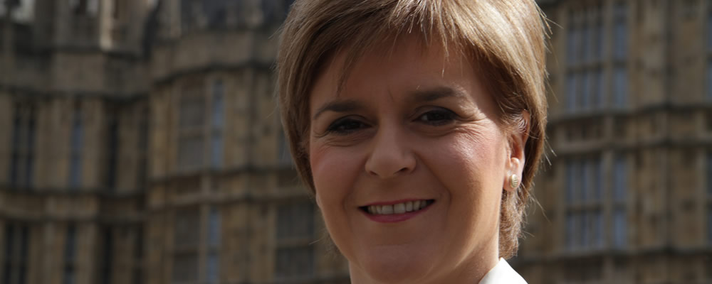 Leader of the SNP Nicola Sturgeon